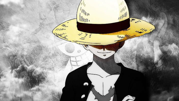 HD wallpaper: Monkey D. Luffy, One Piece, straw hat