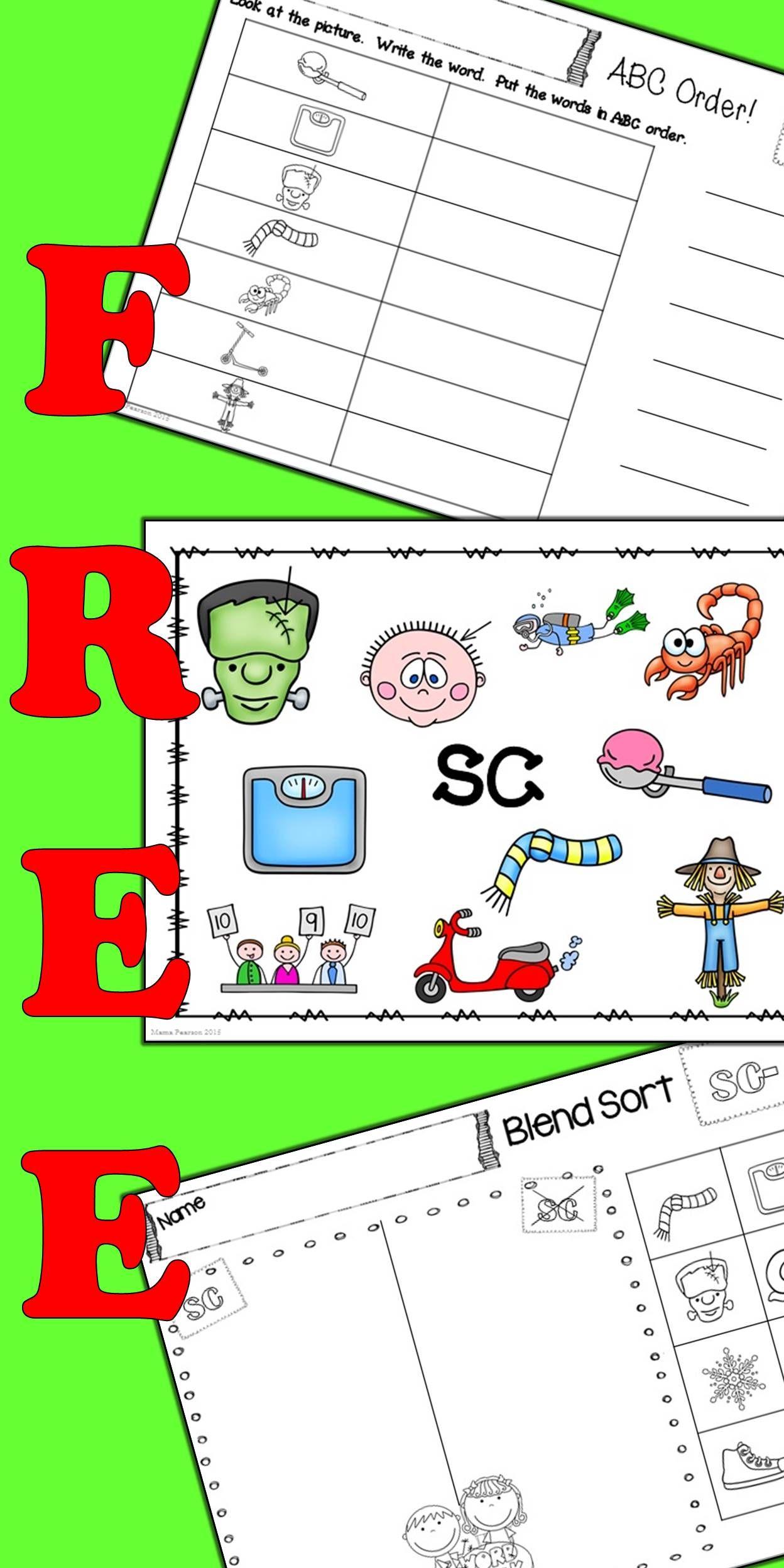 Free Sc Blends No Prep Printables