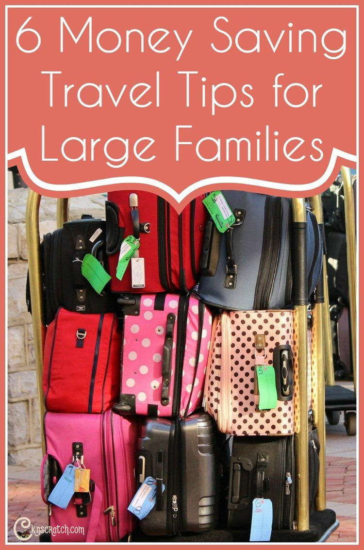 Money Saving Travel Tips For Large Families Cheap Luggage Large Family Saving Money