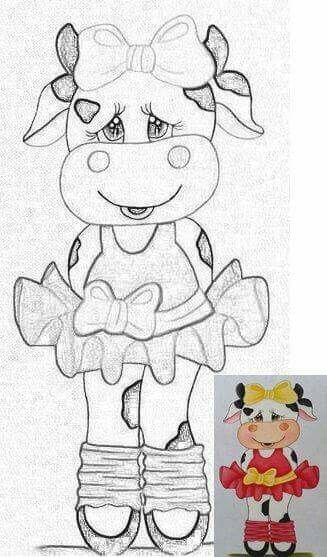 Molde de vaquita para pintar | vacas | Pinterest | Vaca, Molde y Pintar