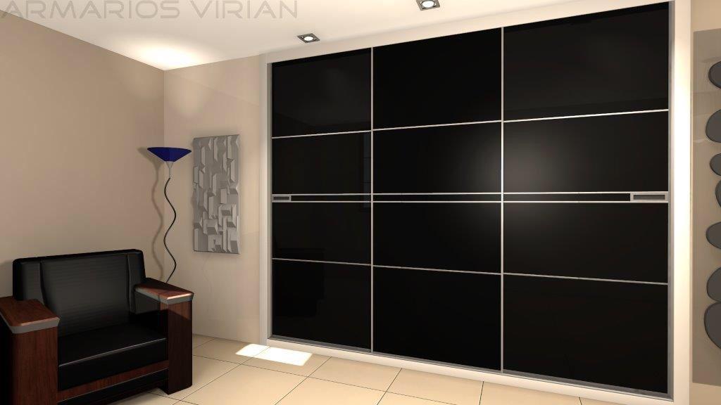 armario empotrado de puertas correderas mod club tiradores en plata vidrio ideas