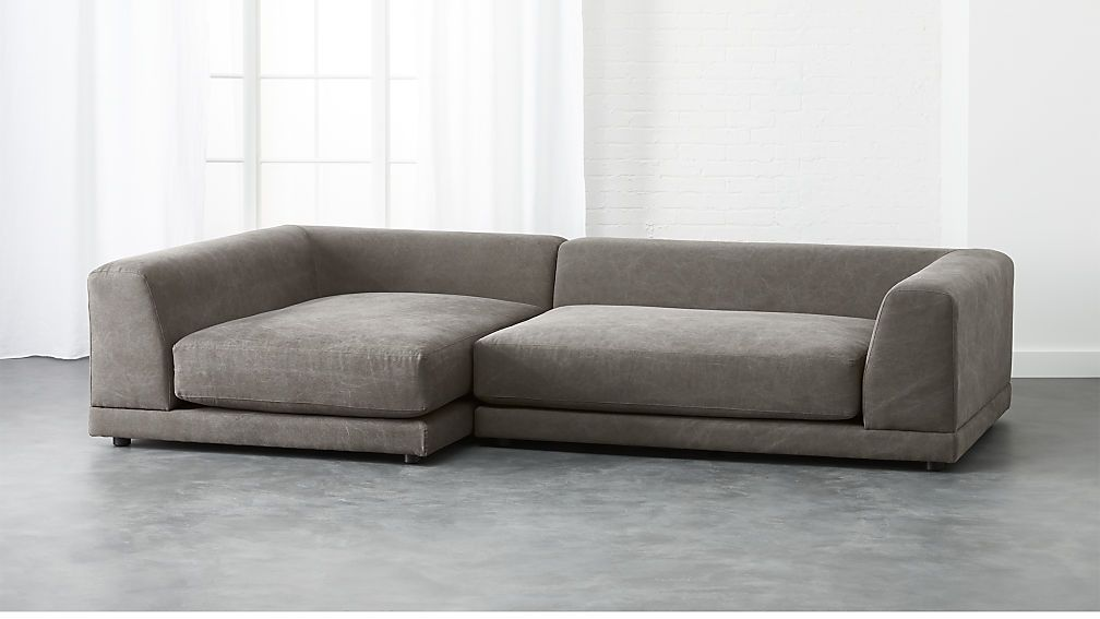 Shop Uno 2 Piece Sectional Sofa Two Super Easy Super Scaled Pieces Make One Roomy Hangout Super Deep W Modern Sofa Sectional 2 Piece Sectional Sofa Low Sofa
