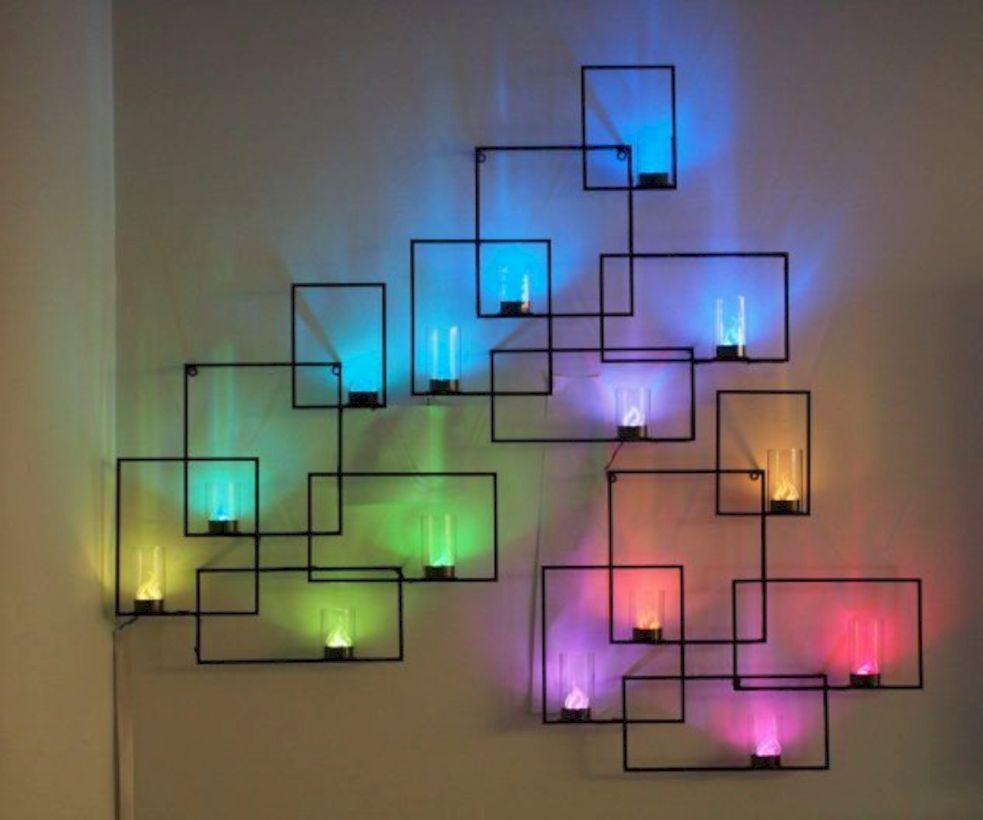 57 Creative Colorful Led Decorative Wall Projection Lamp Diy Room Decor Light Wall Art Room Diy