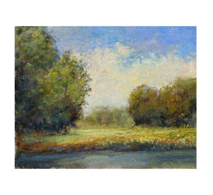 ARTFINDER: Summer Day 7.8.15 by Don Bishop - Summer Day 7.8.15 is a nice colorful impressionist landscape oil painting. This piece was created with palette knives and brushes. This 11x14 plein air impr...