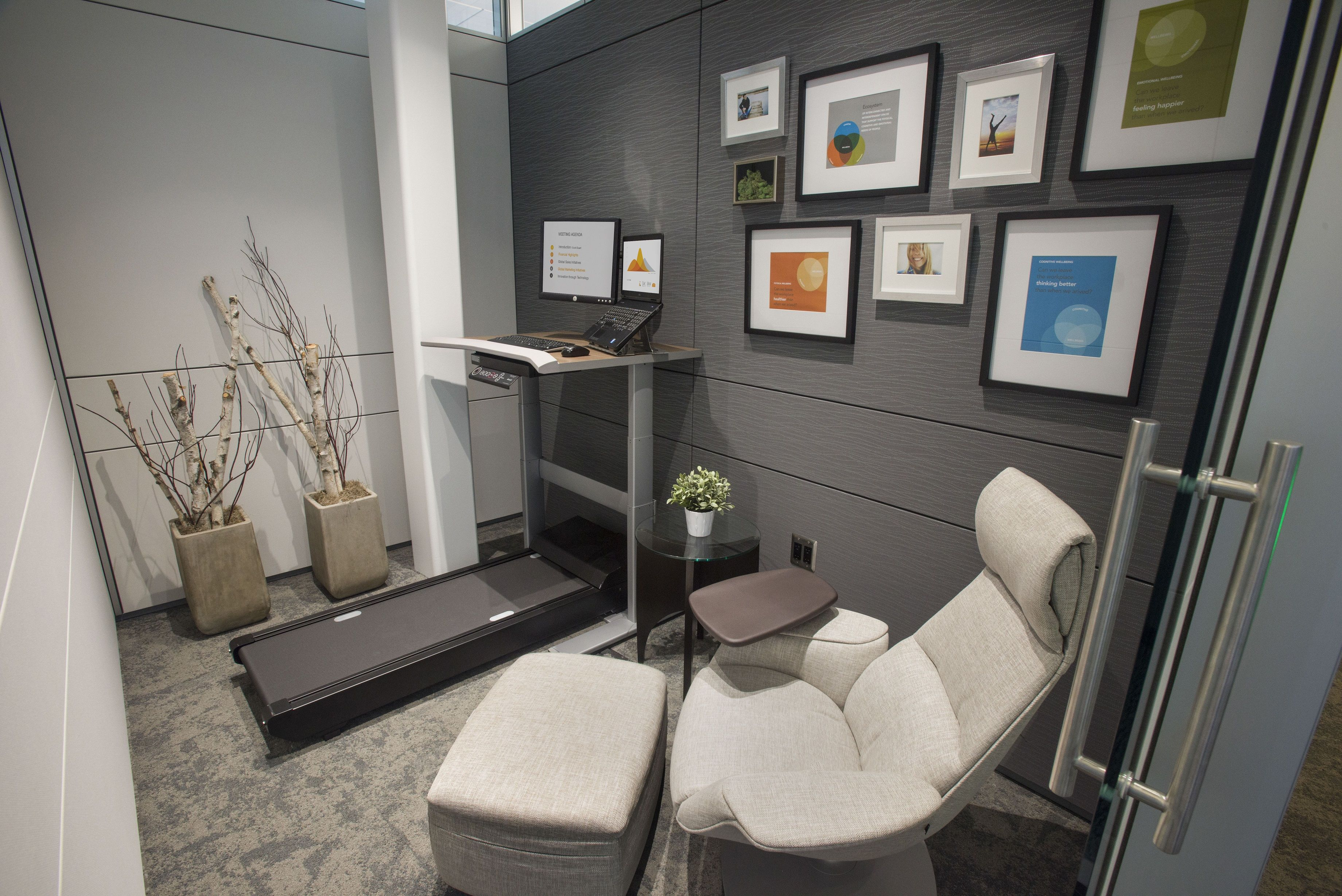Steelcase Walkstation with Massaud Lounge and Ottoman by Coalesse