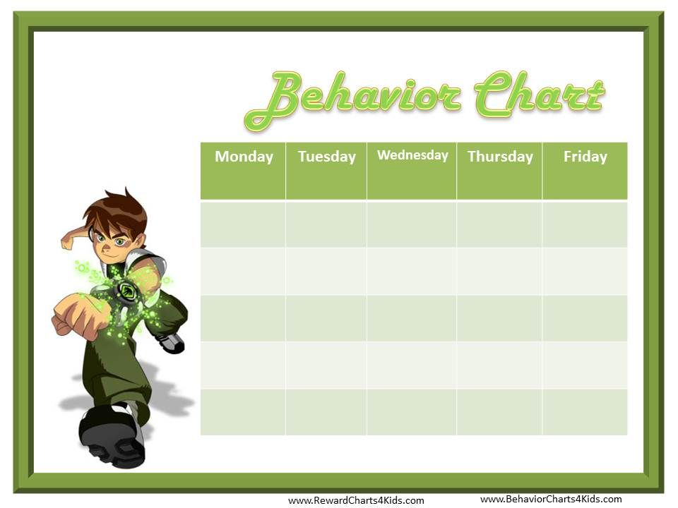 BEN 10 reward chart - Google Search Projects to Try Pinterest - free reward chart templates