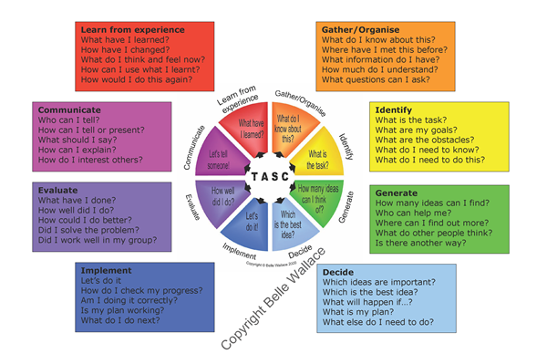 TASC wheel and questions by Belle Wallace (With images) | Eyfs ...
