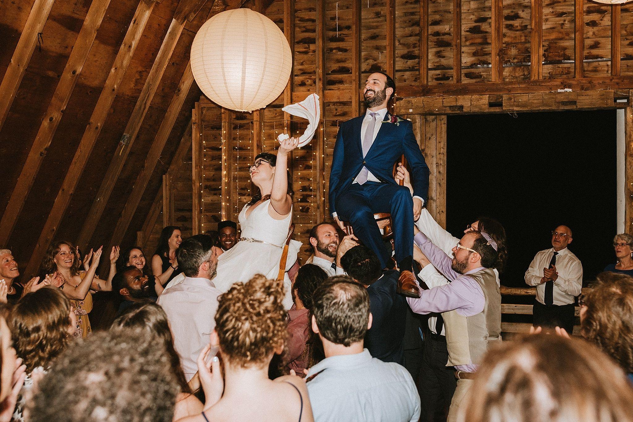 Miriam + Dan in 2020 Catskills wedding, Barn wedding