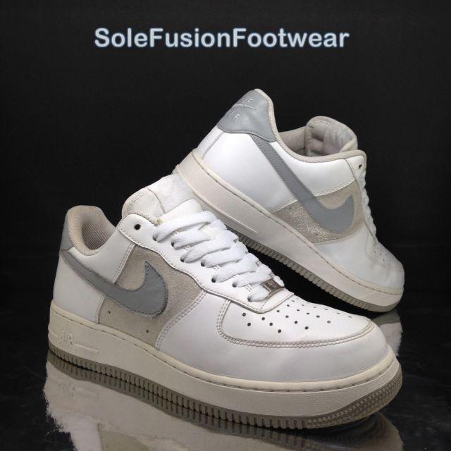nike air force 1 donna formatori bianco / grigio 8 rare le scarpe da ginnastica di noi