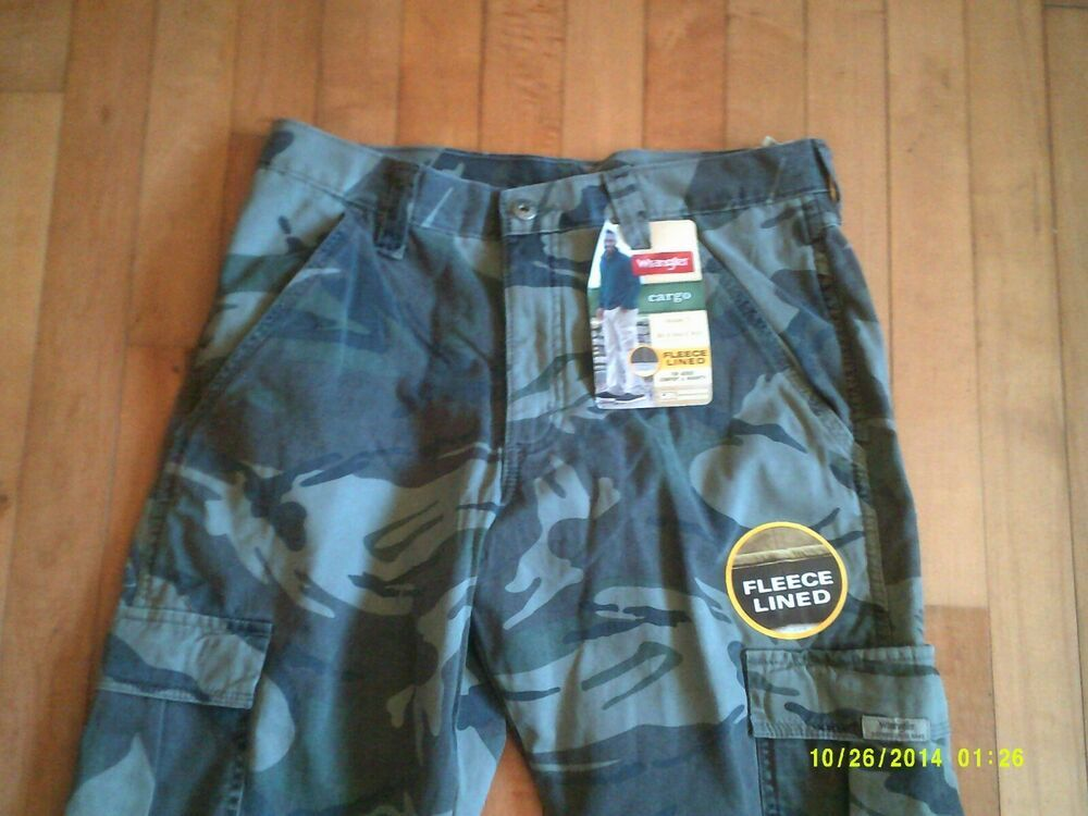 8980e4d4 (Sponsored)eBay - NWT Wrangler Mens Fleece Lined Camo Pants Relaxed Fit  30x30 HUNTING