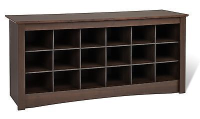 Sonoma Shoe Cubbie Storage Bench For Entryway Mudroom