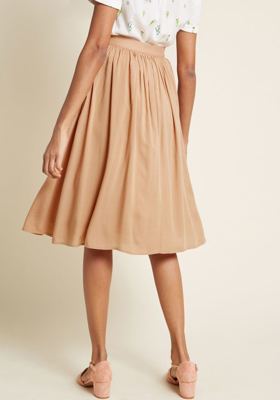 ad4716667c Match Made Midi Skirt | COLOR | Nude Color Inspiration | Midi skirt ...