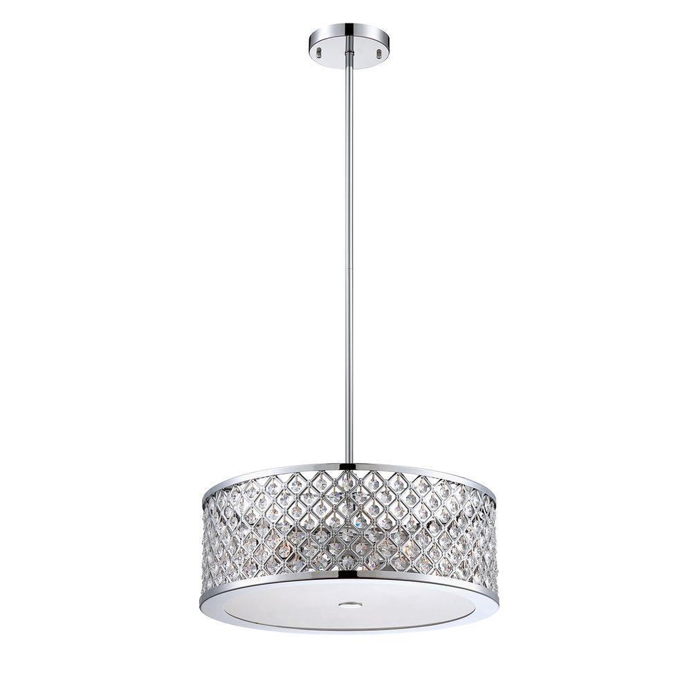 Home Decorators Collection 3 Light Chrome Convertible