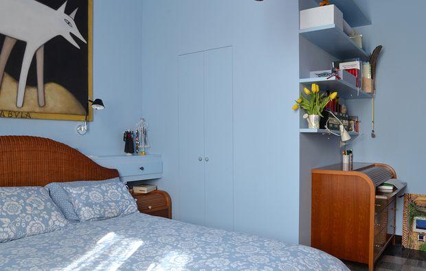 Cabina armadio + angolo studio in camera