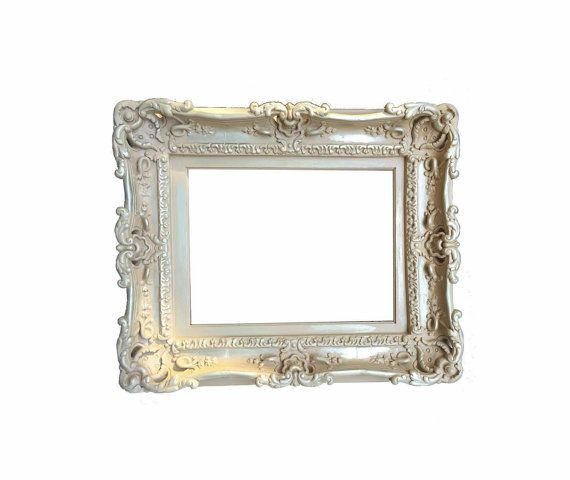 12x16 Shabby Chic Frame Decorative Baroque Frame Wedding Etsy Shabby Chic Frames Ornate Picture Frames Baroque Frames