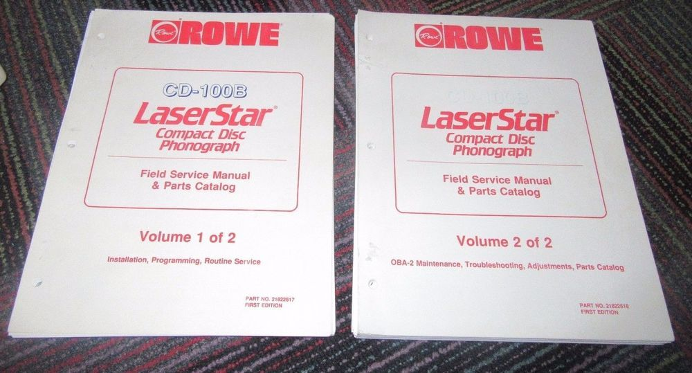 routines manual vol 1     Array   rowe ami cd100b cd 100 laserstar service manual u0026 parts  catalog vol rh pinterest