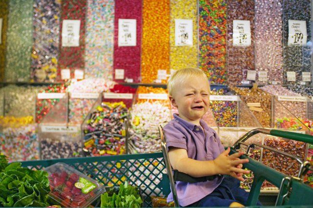 Baby boy crying in candy aisle of grocery store | Crying kids ...