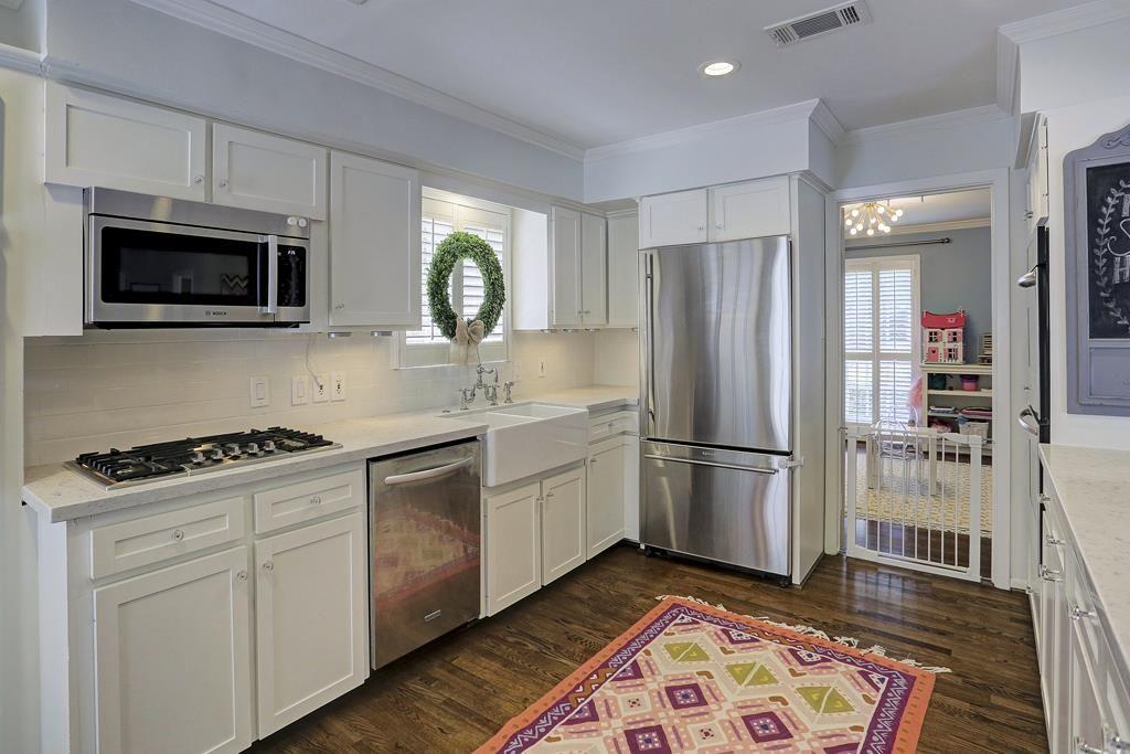 6151 Cedar Creek Dr Houston, TX 77057: Photo View of kitchen, leads ...