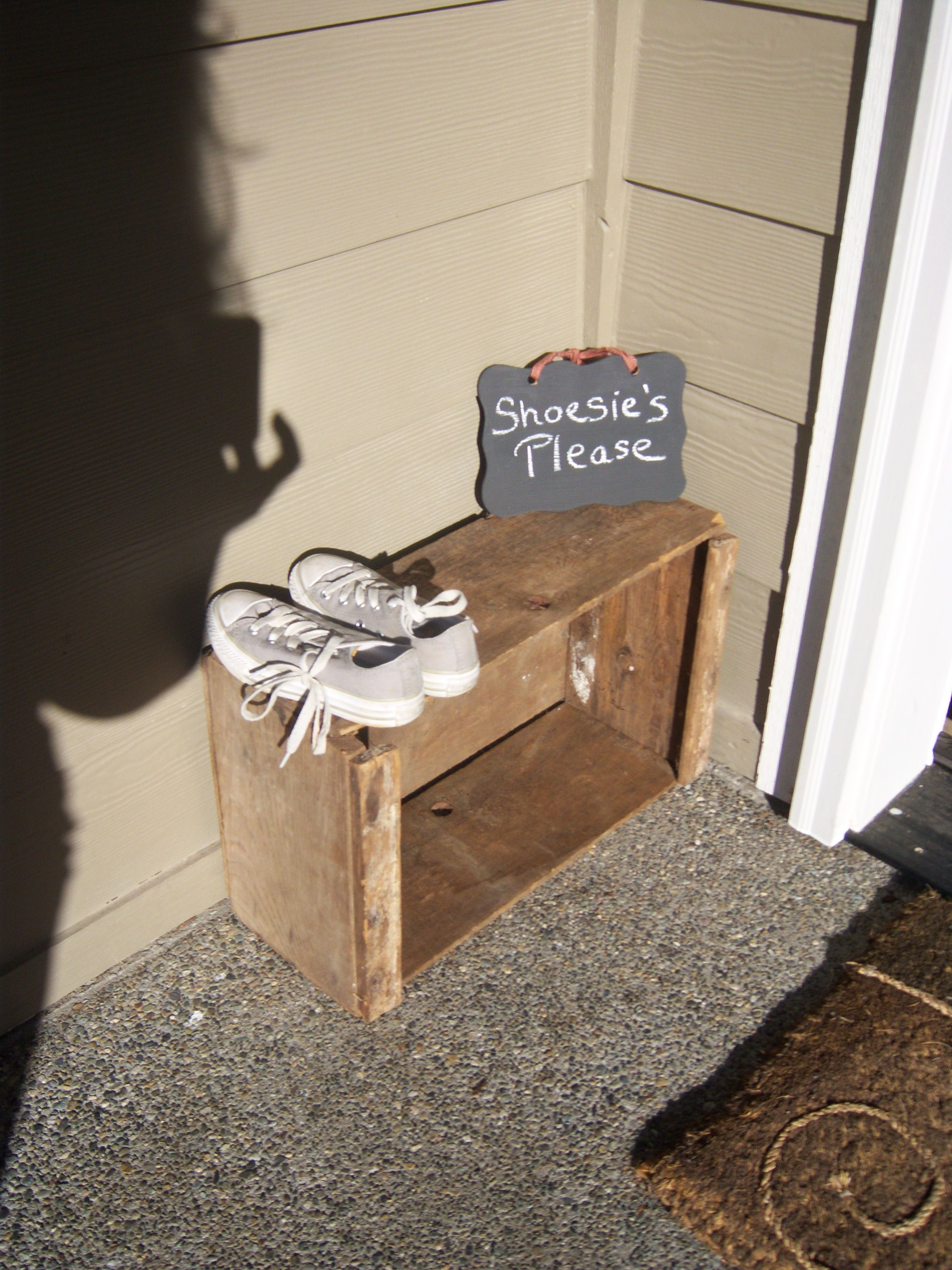 Shoe Parking at the front door