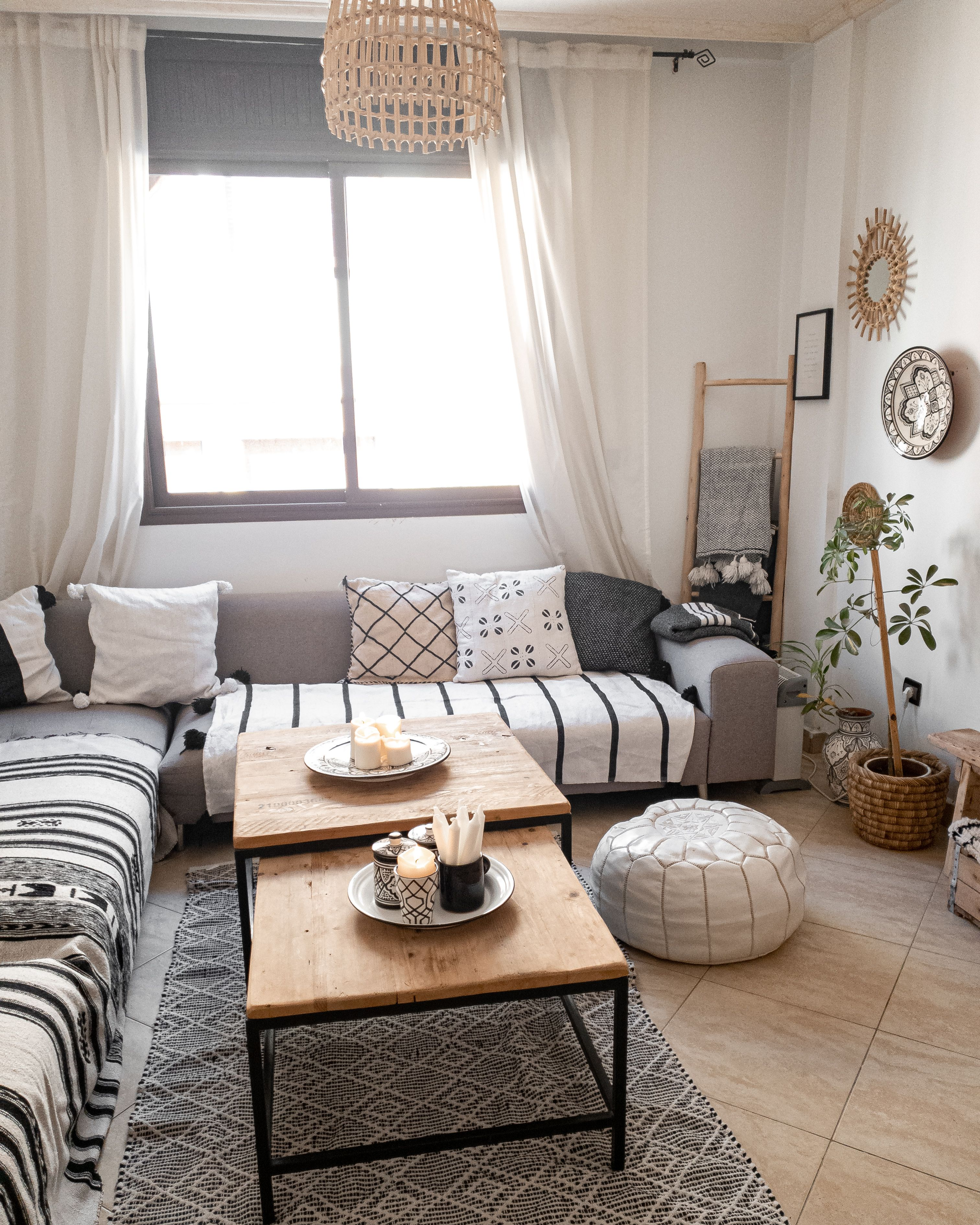 Wohnzimmer Inspo im Scandi Boho Stil   Wohnzimmer grau ...