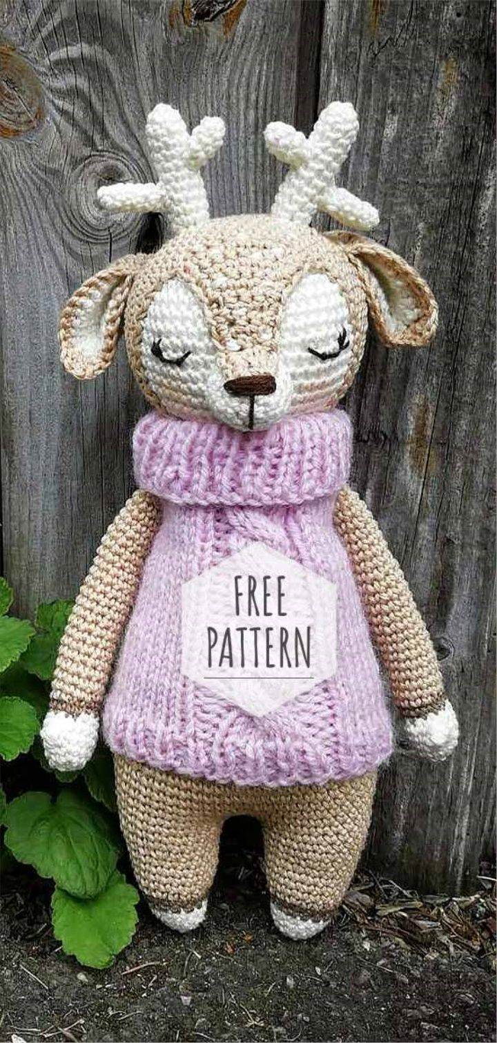 Amigurumi Deer Free Pattern #amigurumifreepattern