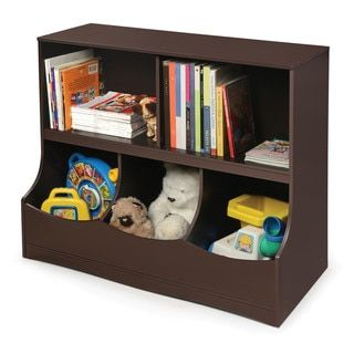 Badger Basket Espresso Multi Bin Storage Cubby 19338068 S On