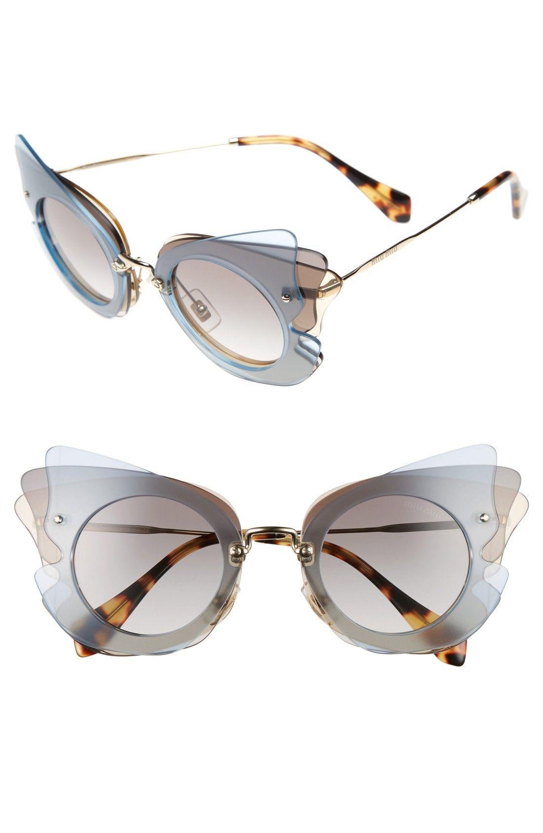 a7f3874217a Miu Miu 63mm Butterfly Sunglasses
