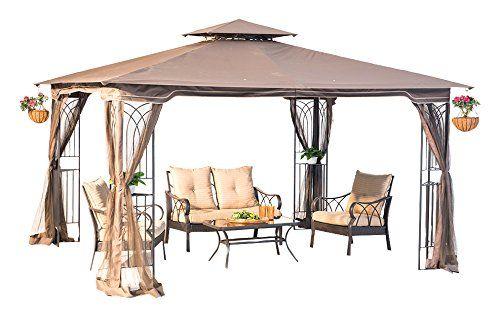 Sunjoy Replacement Canopy Set For 10x12ft Regency Ii Gaze Https Www Amazon Com Dp B06xtrkmd8 Ref Cm Sw R Pi Dp X Pgn Z With Images Patio Gazebo Gazebo Screened Gazebo