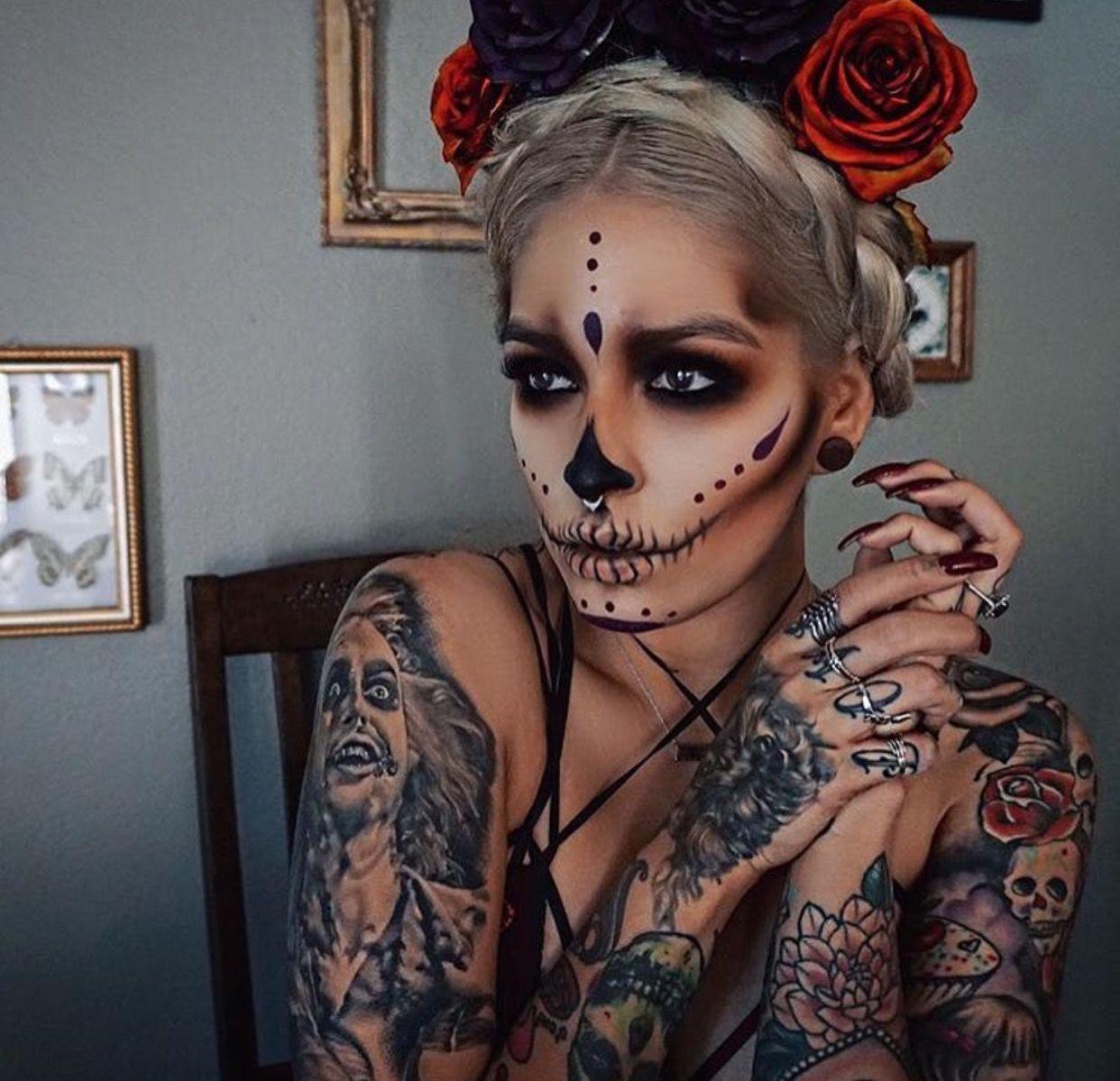 Pinterest SoRose95 Halloween makeup sugar skull