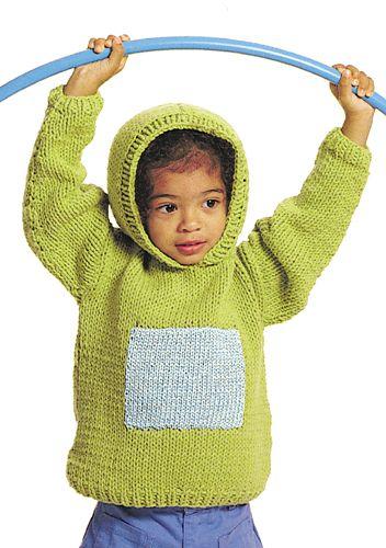 Hoodie Knit One Purl Two Pinterest Free Pattern Knitting