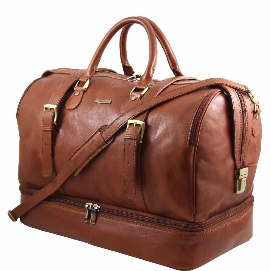 grand sac de voyage cuir tl travel avec double fond bags. Black Bedroom Furniture Sets. Home Design Ideas