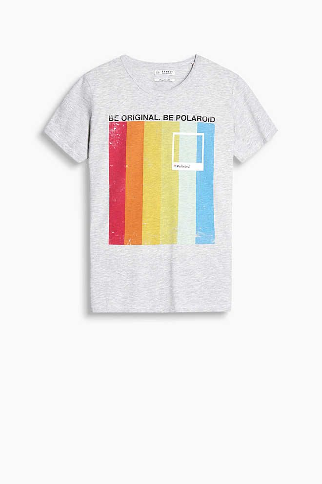 Esprit   Jersey T-shirt with a 3D polaroid print  7ca196f07