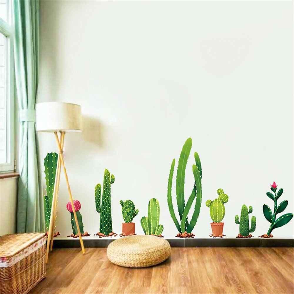 Cactuses Cactis Flowers Wall Sticker Nursery Decor Kids Art Home Removable Decal