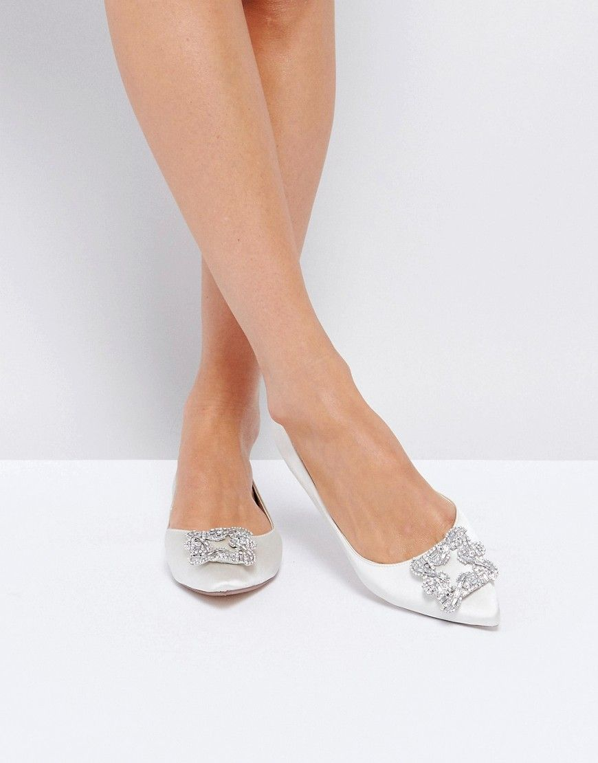 Dune London Bridal Exclusive Briella Embellished Flat Shoes - Nude Dune London E2bTty3