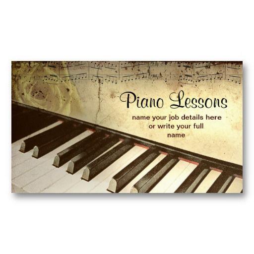 Piano Business Card Zazzle Com Piano Teacher Business Cards