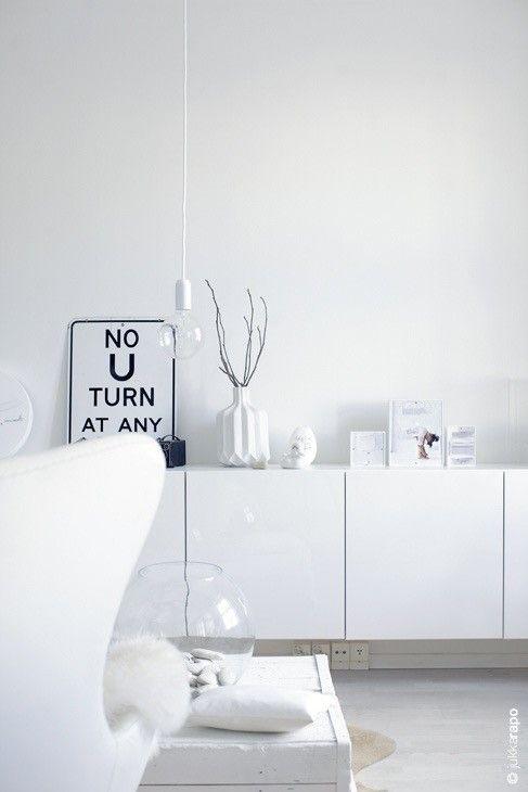 arredare soggiorno in total white | livingroom | pinterest | posts ... - Soggiorno Total White