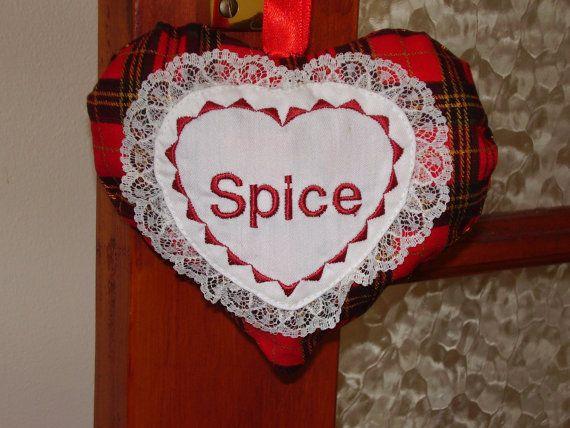 Scented Valentine Tartan Heart Decoration  by FrangipanCrafts, £7.99