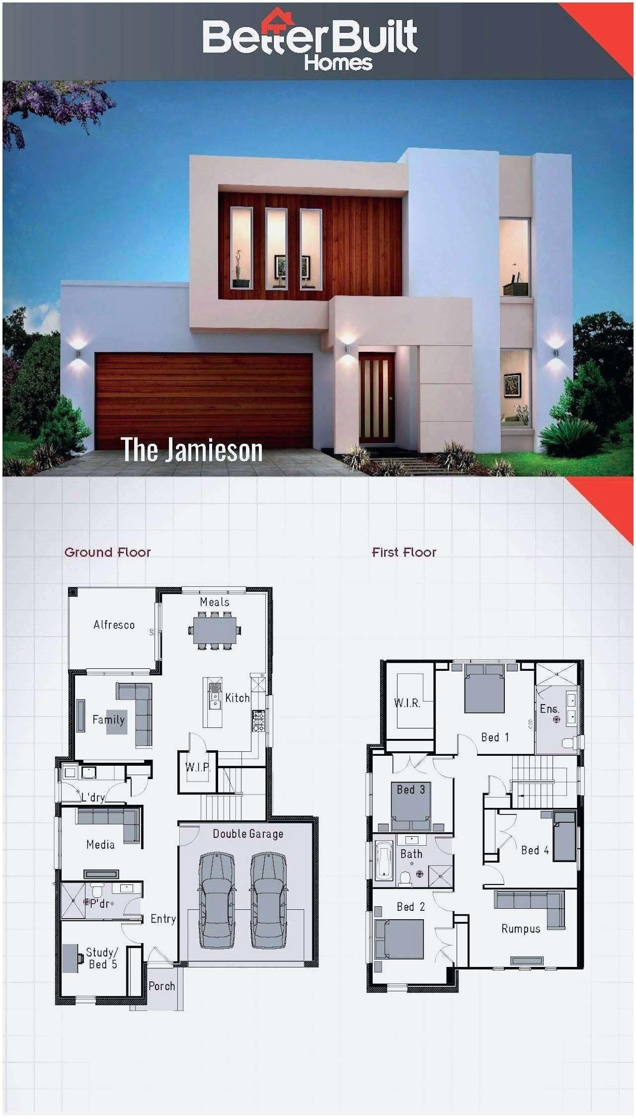 16 Plan Maison Gratuit En Ligne Double Storey House 2 Storey House Design Modern House Plans