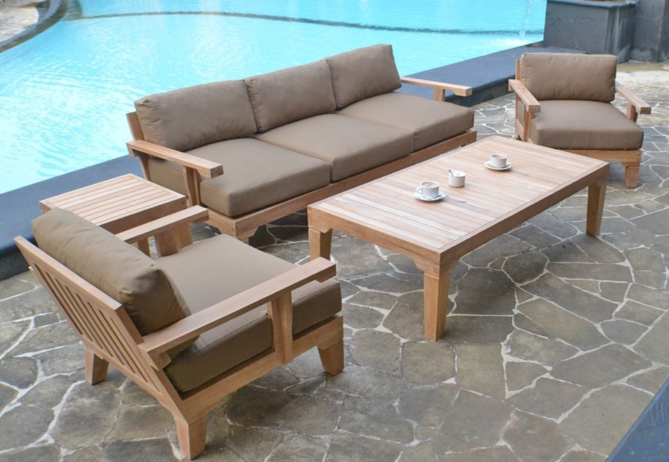 Impressive Outdoor Deep Seating Furniture Modern Deep Seating Teak