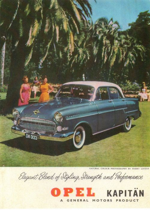 1957 Opel Kapitan South Africa Published At Opel Buick