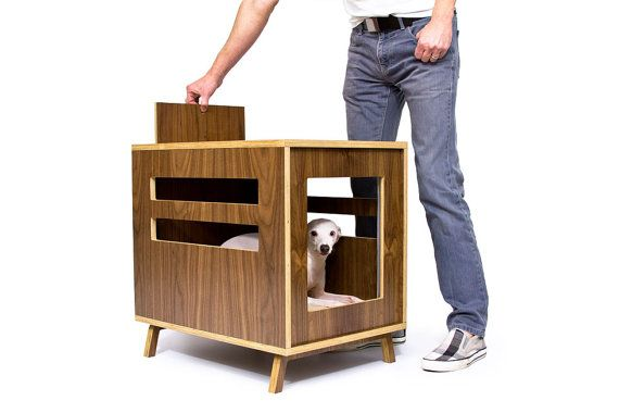 Dwell Dog Crate Mid Century Modern Pet By Modernistcat On Etsy