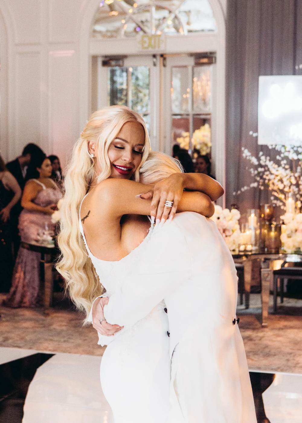 At The Wedding Of Gigi Gorgeous And Nats Getty Published 2019 Gorgeous Celebrity Weddings Beauty Youtubers