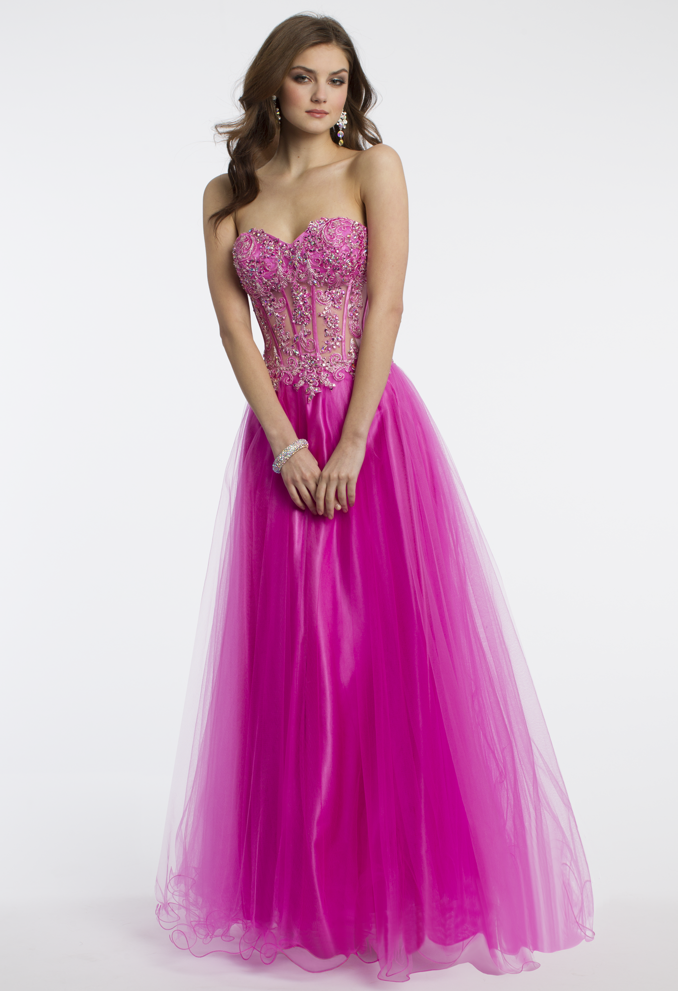 Camille La Vie Illusion Prom Dress with Tulle Skirt | PROM DRESSES ...