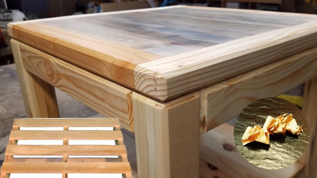 Fabrication Table Basse Bois De Palette Youtube Table Basse Bois Fabrication Table Fabriquer Une Table Basse