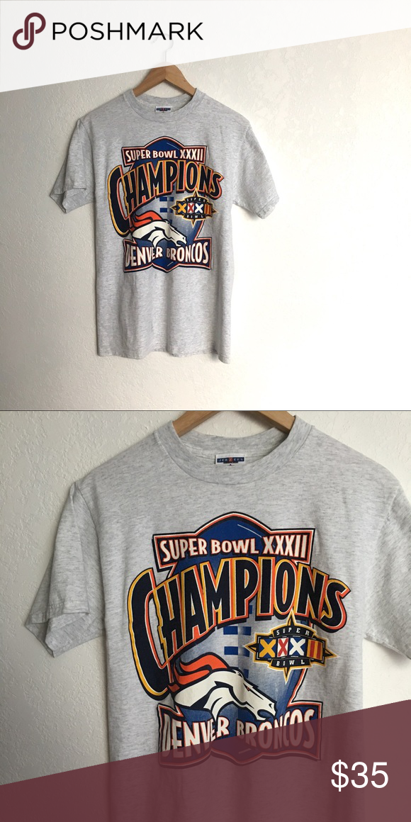 Vintage Broncos Super Bowl T-shirt Great shape. Unisex size M. Vintage Tops c131a4721