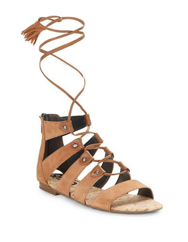 b5cc7bfd94af3 Circus By Sam Edelman Gibson Suede Lace-Up Sandals Women s Saddle 11 ...