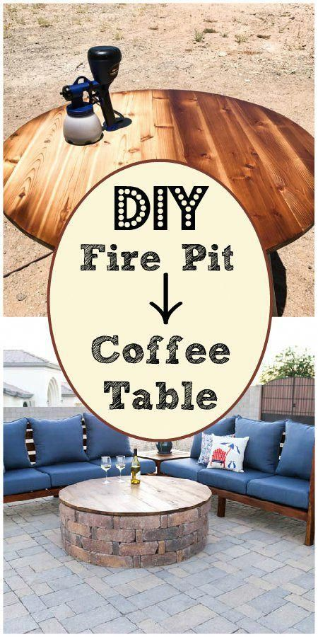 Make a fire pit into a coffee table #diyfirepit