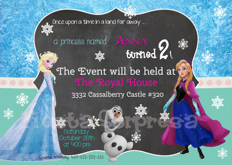 Disney Frozen Birthday Party Invitation By FiestaSorpresa