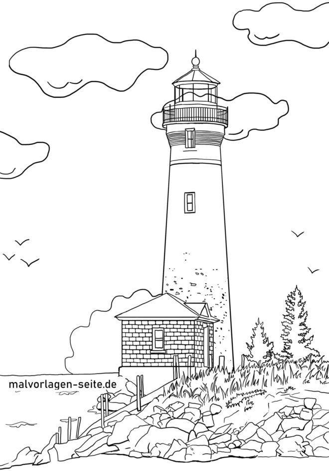 Ten Beste Malvorlage Leuchtturm Ausdruck 2020 Leuchtturm