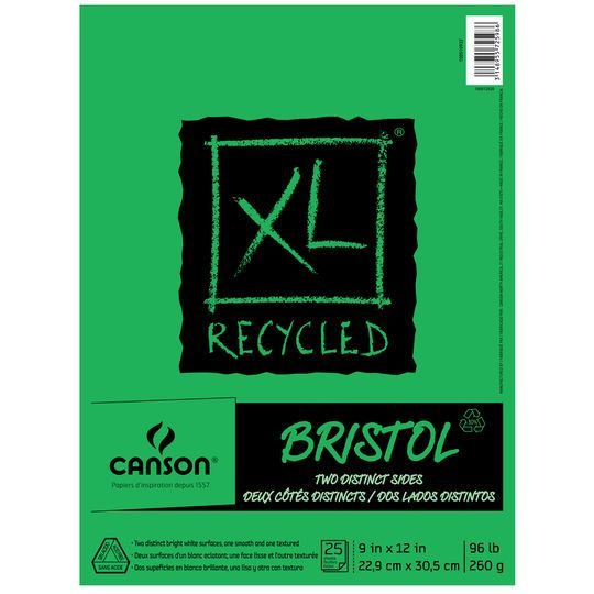 Canson Xl Series Mix Media Pad Canson Xl Recycled Bristol Pad Sketch Pad Sketch Paper Recycling